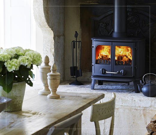 Back cast iron Multi fuel stove